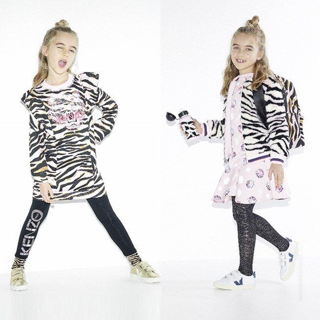 Kenzo kids bambina tigre Autunno inverno 2017