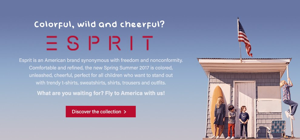 Fly in the USA with Esprit