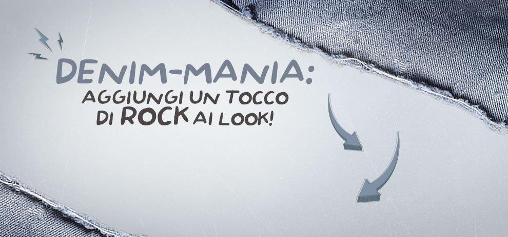 Denim-mania: aggiungi un tocco di rock ai look!