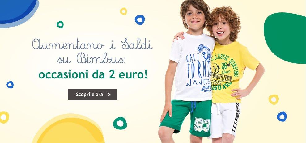 Saldi Bimbus a partire da 2 euro