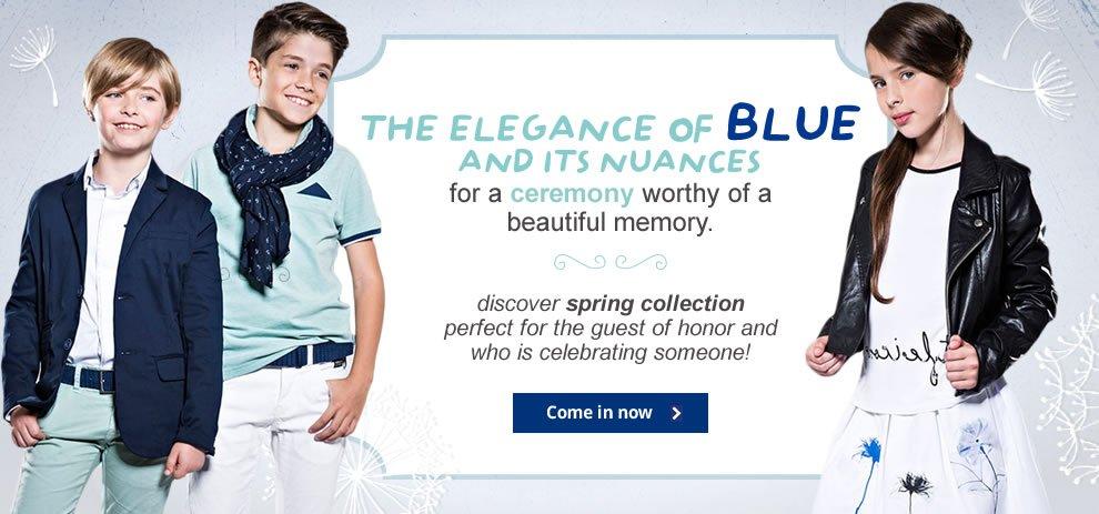 The elegance of blue